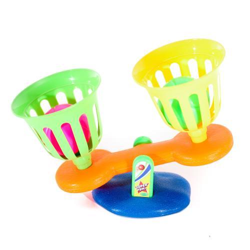 Набор спортивный корзинка 2шт, мячик 2шт, в кульке, M 5474