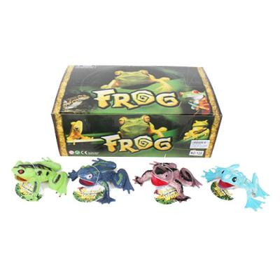 Животное лягушка, пищалка, 11см, 24ш(8видов) в дис