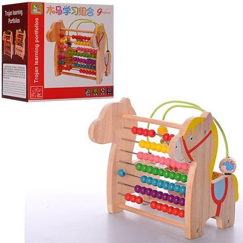 Деревянная игрушка Игровой центр MD 1040 (24шт) сч, MD 1040