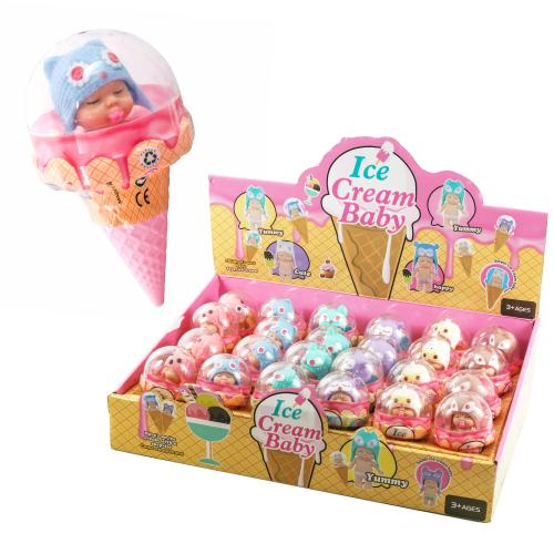 Кукла YT040-48 (144шт) 8см, колба-мороженое 12см,б, YT040-48
