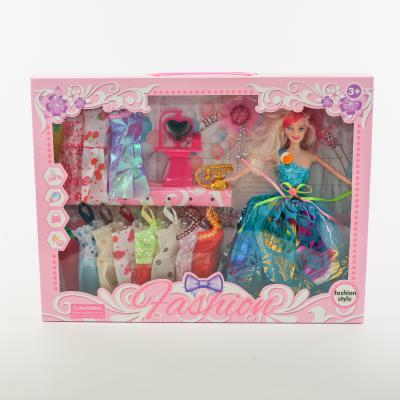 Кукла с нарядом 538D2 (18шт) 29см, платья12шт, акс, 538D2