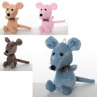 Мягкая игрушка MP 1966 (120шт) мышка, 11см, присос, MP 1966