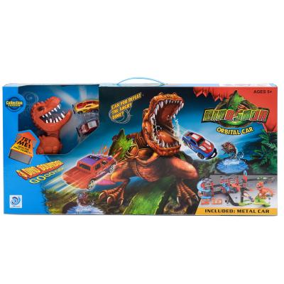 Трек 8899-92 (8шт) машинки 2шт, динозавр-звук(англ
