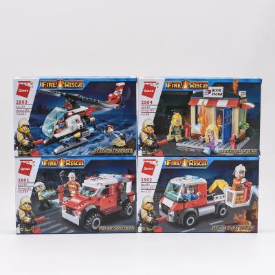 Конструктор Qman 2801-2804 (64шт) пожарн,трансп/зд, 2801-2804 Qman