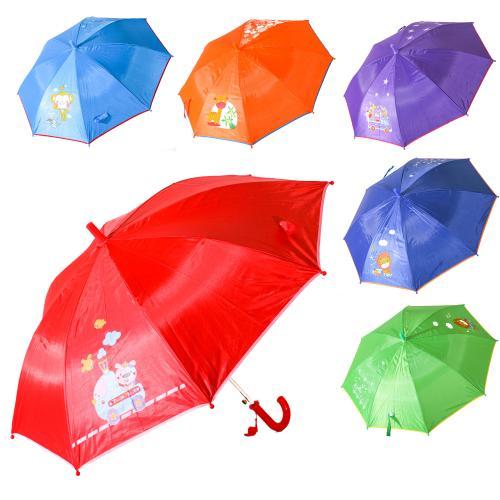 Зонтик детский MK 0525 (60шт) длина55см,трость68см, MK 0525