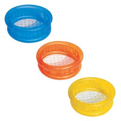 BW Бассейн детский, круглый, надувное дно, 3 цвета