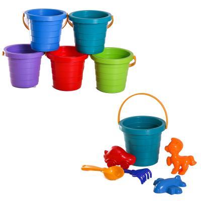 Детский песочный набор:ведерко,лопатка,грабли