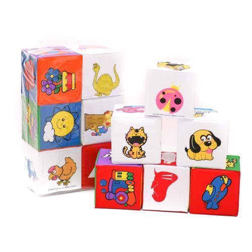 Кубики 5930 (72шт) мягкие, для купания, погремушка, 5930