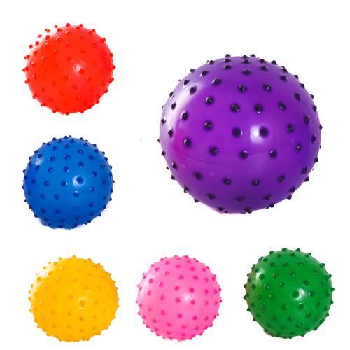 Мяч детский резиновый массажный,23гр.d=12см,6 цвет, C 34562