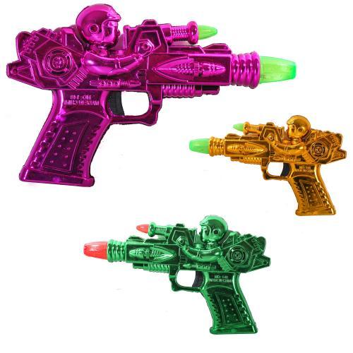 Пистолет муз.батар.,3цвета,в пак, 148-1