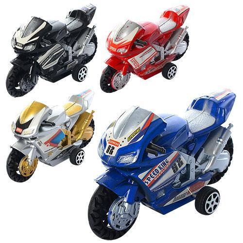 Мотоцикл 66-1 (612шт) инер-й, 9,5см, 4вида, в куль, 66-1