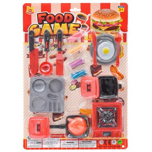 Посуда QX095-4 (96шт) плита, продукты, кухон.набор, QX095-4