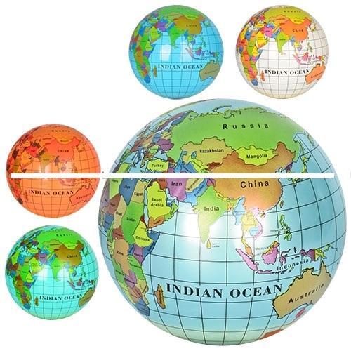 Мяч детский MS 0477 (120шт) 9 дюймов, глобус, рису, MS 0477
