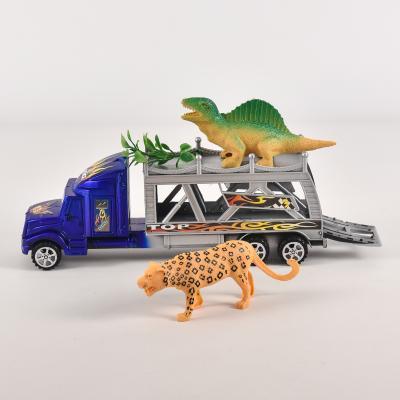 Двухэтажный трейлер, с динозавром, под слюдой, 999-10