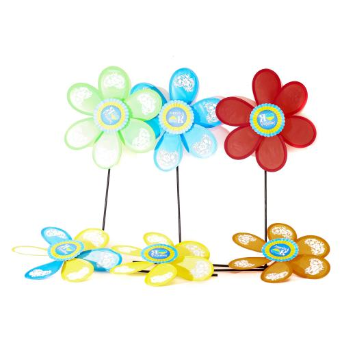 Ветрячок размер средний,диам27см,палоч35см,цветок, M 2421