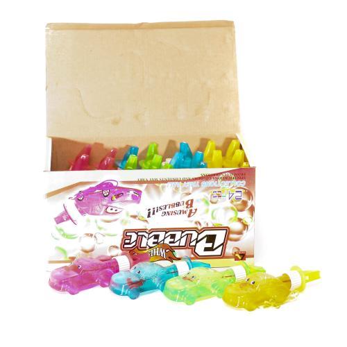 Мыльные пузыри машинка, 75мл, 4 цвета, свисток, 24, M 2045