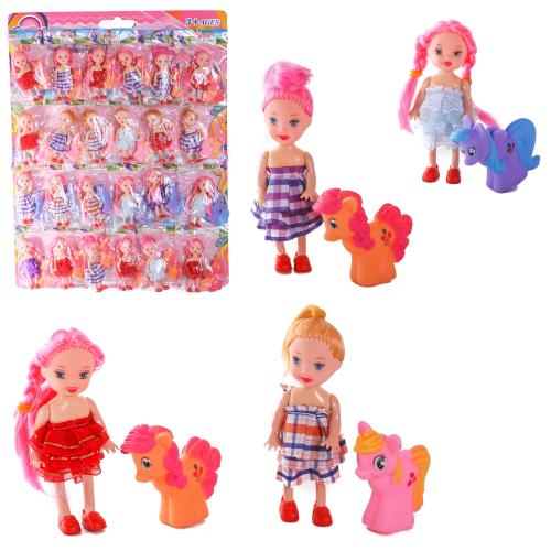 Кукла мален. микс видов,с пони 24 шт на планшетке, 7T-555A1-3