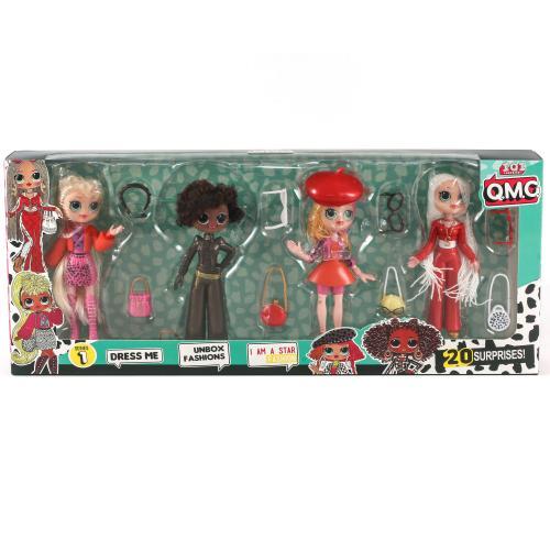 Кукла 19983 (32 шт) LOL,4 шт,15см, в коробке, 19983