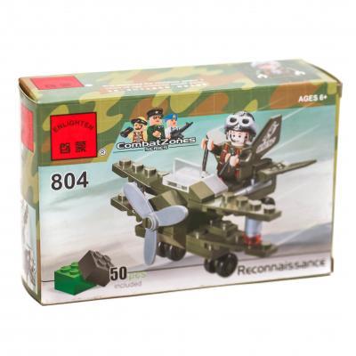 Конструктор BRICK самолёт-разведчик, 50 дет, в кор, 804 BRICK