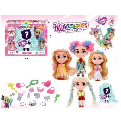 Кукла сюрприз,HairDorables Doll, четыри вида в упа, 01946