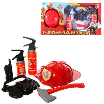 Набор пожарника XY807 (12шт) каска,маска, огнетуши