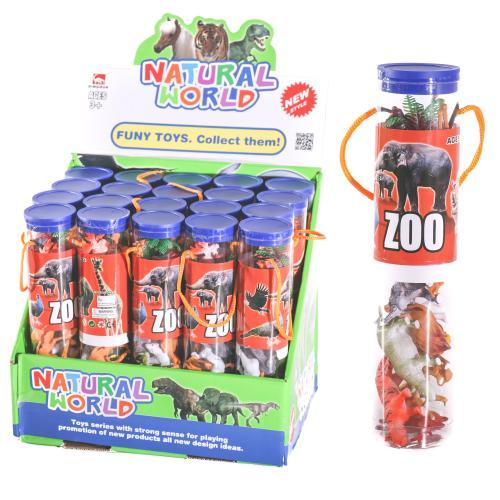 Животные T805 (120шт) дикие, 12шт, 4см, в колбе5-2, T805