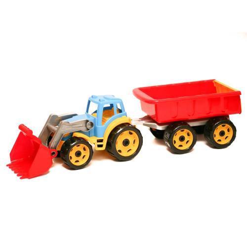 """Іграшка """"Трактор з ковшем і причепом Технок"""", Техно 3688"""