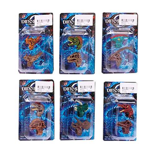 Кольцо 8910-C2 (384шт) 2шт, динозавр, 6видов, в сл, 8910-C2