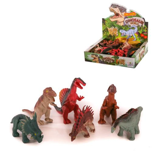 Динозавр A184-DB (144шт) от 15см, 24шт(6видов)в ди, A184-DB