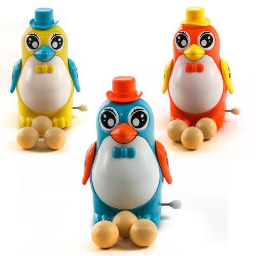 Заводная игрушка 355-2 (336шт) пингвин,12см,несет, 355-2
