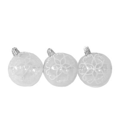 8708 Елочные шарики прозрачные 6см 6шт/кор (120кор