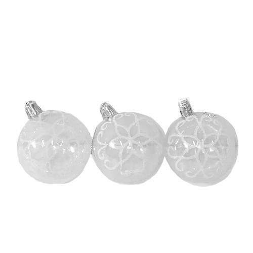 8708 Елочные шарики прозрачные 6см 6шт/кор (120кор, 8708