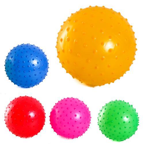 Мяч MB0106 (250шт) с шипами, резиновый 20см, 45 гр, MB0106