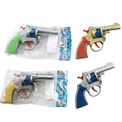 Пистолет на пистонах, 3 цвета, в кульк