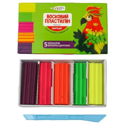 Пластилин восковой флуоресцентный, 5 цветов (цена за упаковку), GA-331055-Cr