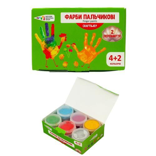 Краски пальчиковые, 6 цветов (цена за упаковку), GA-322076-Cr