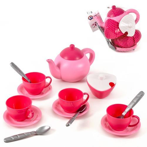 Посуд Чайний набір чайник,цукерниця,4 горнятк, Техно 7174