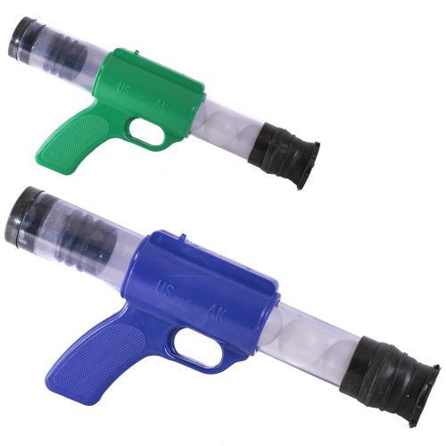 Пистолет пинг-понг 3 цвета, в кульке, 1055