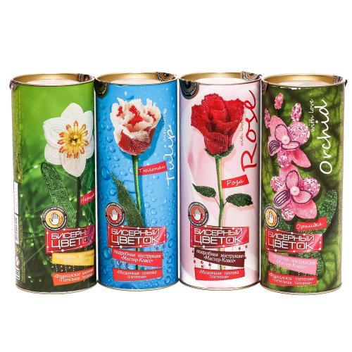 """Набор для творчества """"Бисерный цветок"""", ДТ-ОО-09-39"""