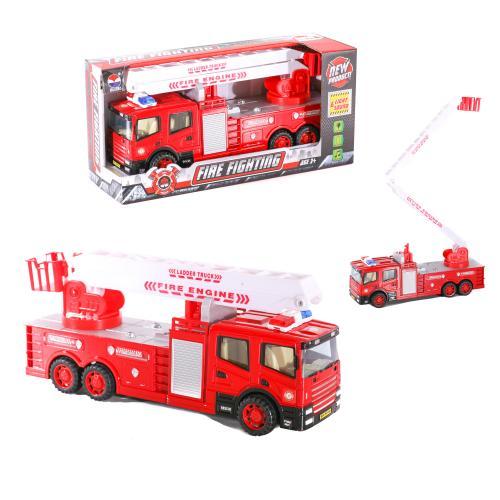 Пожарная машина SH-9016 (24шт) 32см, звук, свет, н, SH-9016