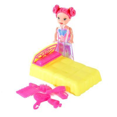 Кукла YMD903 (210шт) 10см, кровать 10-6-4см, аксес