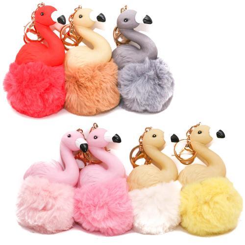 Аксессуар для сумки Y106 (100шт) брелок, фламинго, Y106