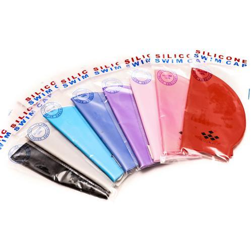 Шапочка для плавания 22-19см, 4 цвета, в кульке, 1, MS 0814