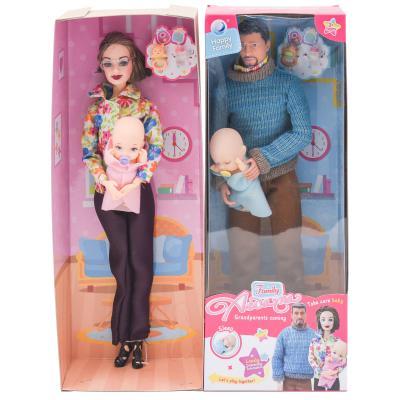 Кукла 30см, пупс8см, аксессуаp, 2вид 12.5-32.5-7.5