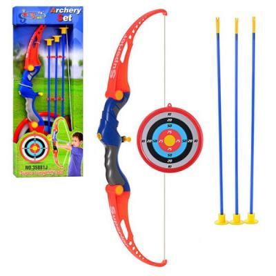 Лук стрелы на присосках, мишень, в кор-ке, 65,5-24