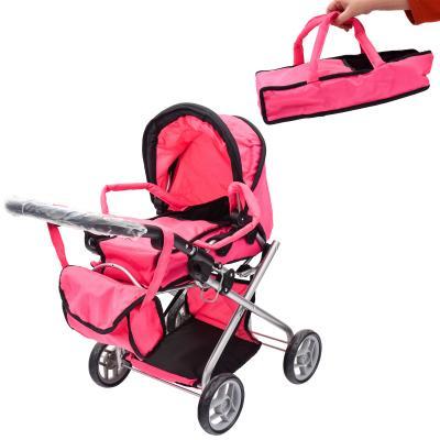Коляска 9379/029 (3шт) для куклы, сумка,корзинка,лю