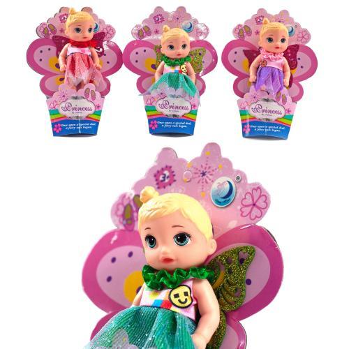 Кукла фея, 11см, на листе 16-12-3см, 12шт(3вида) в, A269B
