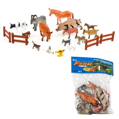 Животные H 639-1-2 (72шт) домашние, забор, 2 вида