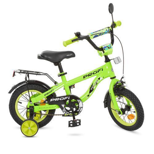Велосипед детский PROF1 12д. Space, салатовый,звоно, T12153