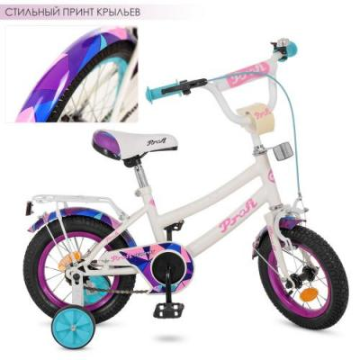 Велосипед детский PROF1 12д. Geometry,белый,звонок